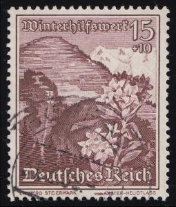 681 WHW Erzberg/Alpenrose 15+10 Pf O
