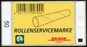 Nummer 3: Rollenservicemarke 2007, DHL EXPRESS, Globushologramm, postfrisch **
