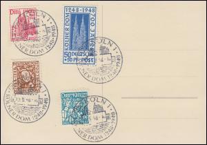 69-72 Kölner Dom - Satz auf passender AK 700 Jahre Kölner Dom ESSt 15.8.48