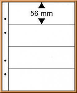 Multi collect-Blätter MU1324 glasklar, 4 Streifen, Packung zu 10 Stück