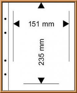 Multi collect-Blätter MU1340 glasklar, 1 Streifen 151x235 mm, 10 Stück