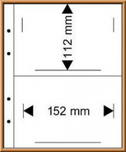 Multi collect-Blätter MU1341 glasklar, 2 Streifen 152x112 mm, 10 Stück