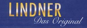 LINDNER Postkarten-Album LOTOS, Farbe weinrot, mit 50 geteilten Hüllen
