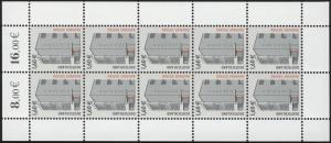 2302CII SWK 1,60 Zehnerbogen, Marken mit Sicherheitsaufdruck III ** postfrisch