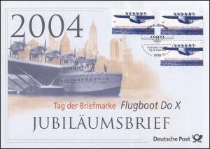 2428 Tag der Briefmarke & Flugboot Do X 2004 - Jubiläumsbrief