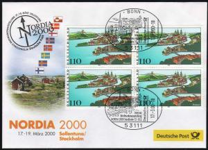 Ausstellungsbeleg Nr. 47 NORDIA Stockholm 2000, SSt Bonn 17.3.00