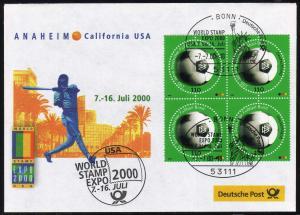 Ausstellungsbeleg Nr. 53 WORD STAMP EXPO Anaheim 2000