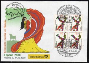 Ausstellungsbeleg Nr. 54 ESPANA Madrid 2000, SSt Bonn 6.10.00