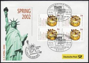 Ausstellungsbeleg Nr. 68 SPRING New York 2002, SSt Bonn 4.4.02