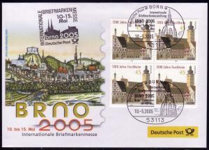 Ausstellungsbeleg Nr. 100 BRNO Brno 2005, SSt Bonn 10.5.05
