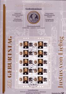 2337 Justus von Liebig - Numisblatt 2/2003