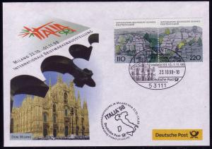 Ausstellungsbeleg Nr. 34 ITALIA Mailand 1998, SSt Bonn 2.10.98