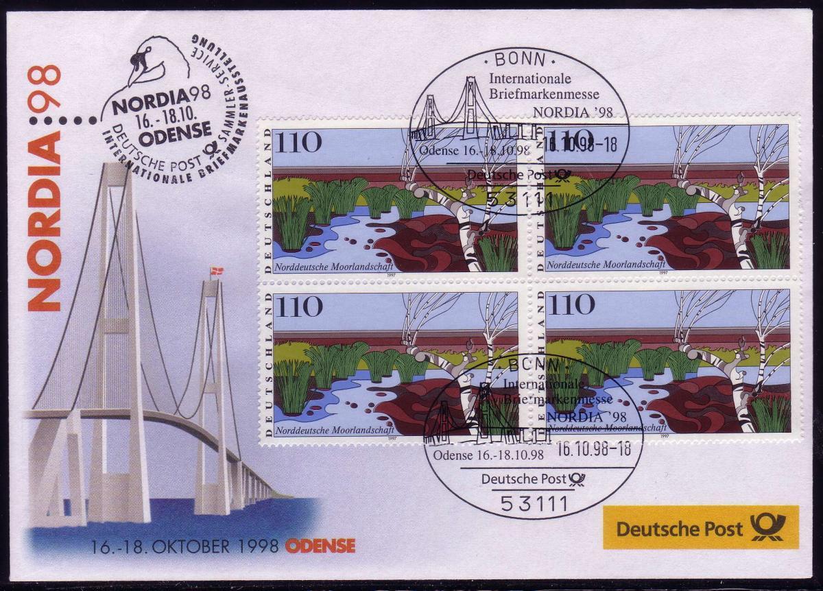 Ausstellungsbeleg Nr. 33 NORDIA Odense 1998, SSt Bonn 16.10.98 0