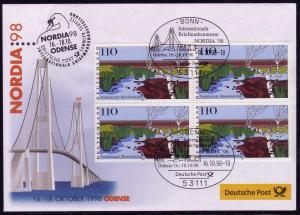 Ausstellungsbeleg Nr. 33 NORDIA Odense 1998, SSt Bonn 16.10.98