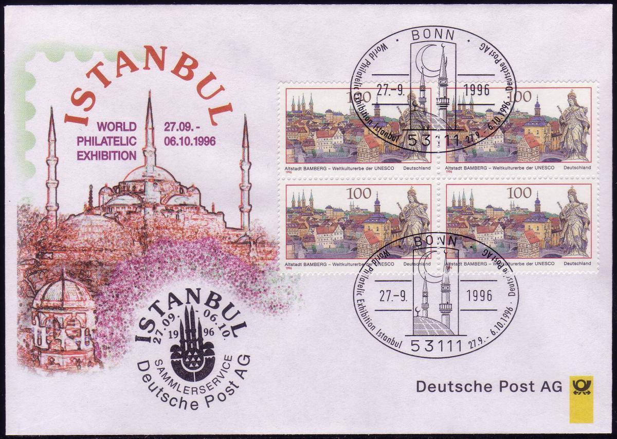 Ausstellungsbeleg Nr. 16 WORLD Istanbul 1996 0