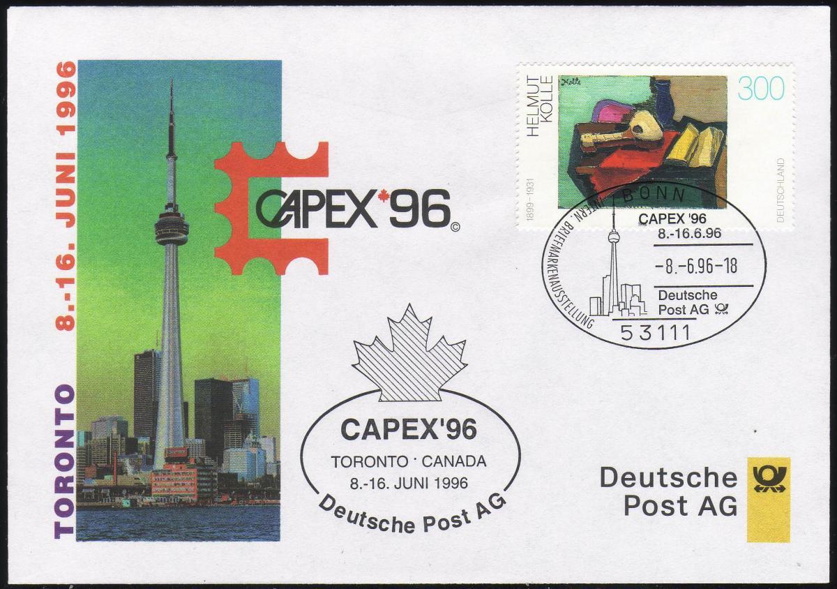 Ausstellungsbeleg Nr. 15 CAPEX Toronto 1996 0