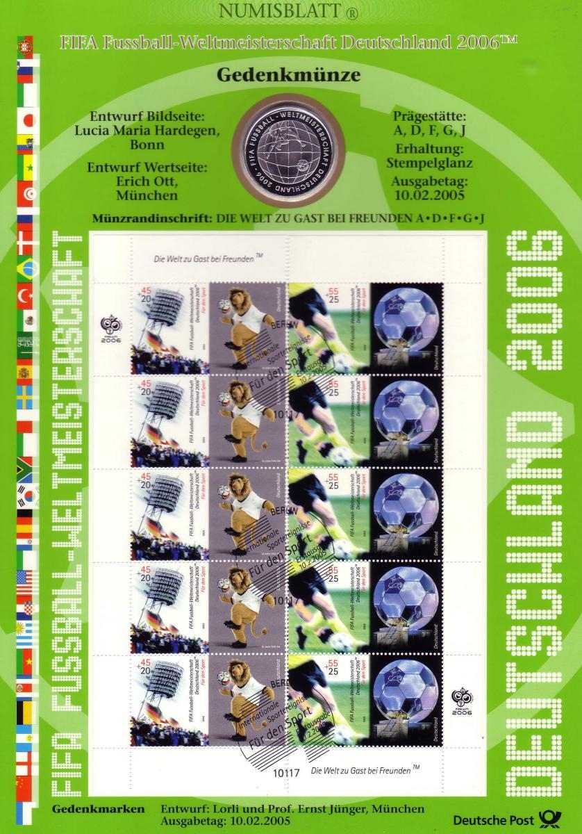 2439-2440 Fußball-WM: Münzbuchstabe D - Numisblatt 2005 0