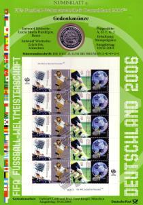 2439-2440 Fußball-WM: Münzbuchstabe D - Numisblatt 2005