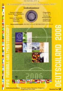 Block 67 Fußball-WM: Münzbuchstabe F - Numisblatt 2006