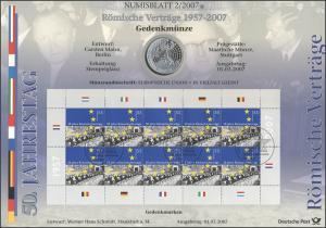 2593 Römische Verträge / Europäische Wirtschaftsgemeinschaft - Numisblatt 2/2007