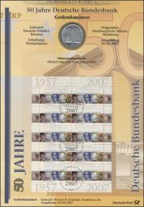 2618 50 Jahre Deutsche Bundesbank - Numisblatt 4/2007