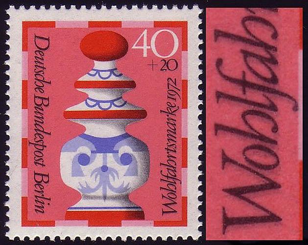 437DD Wofa Schachfiguren 40 Pf - DD schwarz, ** 0