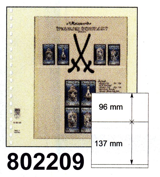 LINDNER-T-Blanko - Einzelblatt 802 209 0