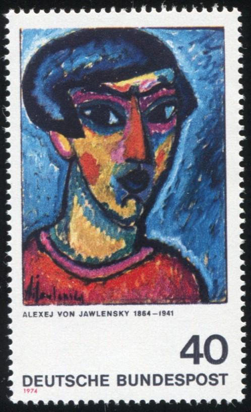799 Expressionisten 40 Pf mit PLF defekte erste 1 in 1941, Feld 4, ** 1