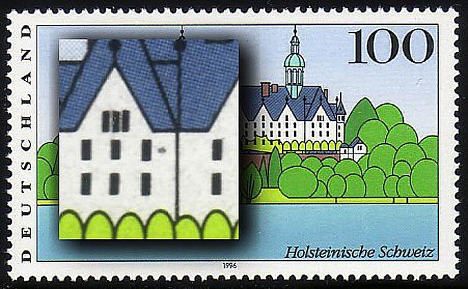 1849II Holstein mit PLF II - schwarzer Fleck im Schloss, Feld 3, ** 0