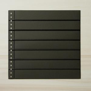LINDNER Omnia Einsteckblatt 07 schwarz mit 7 Streifen