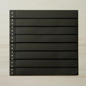 LINDNER Omnia Einsteckblatt 08 schwarz mit 8 Streifen