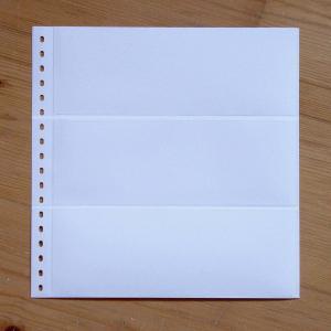 LINDNER Omnia Einsteckblatt 011 weiß 3 Streifen