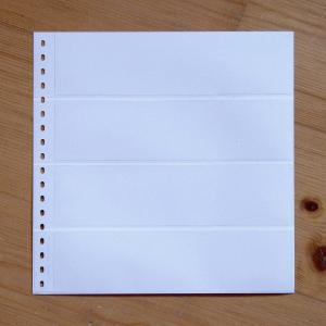 LINDNER Omnia Einsteckblatt 012 weiß 4 Streifen
