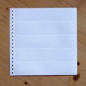 LINDNER Omnia Einsteckblatt 013 weiß 5 Streifen