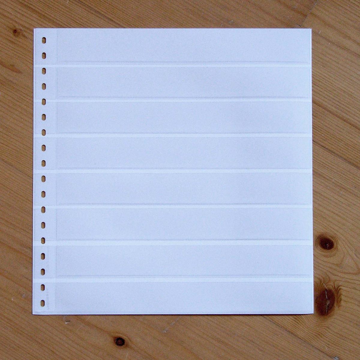 LINDNER Omnia Einsteckblatt 016 weiß 8 Streifen 0