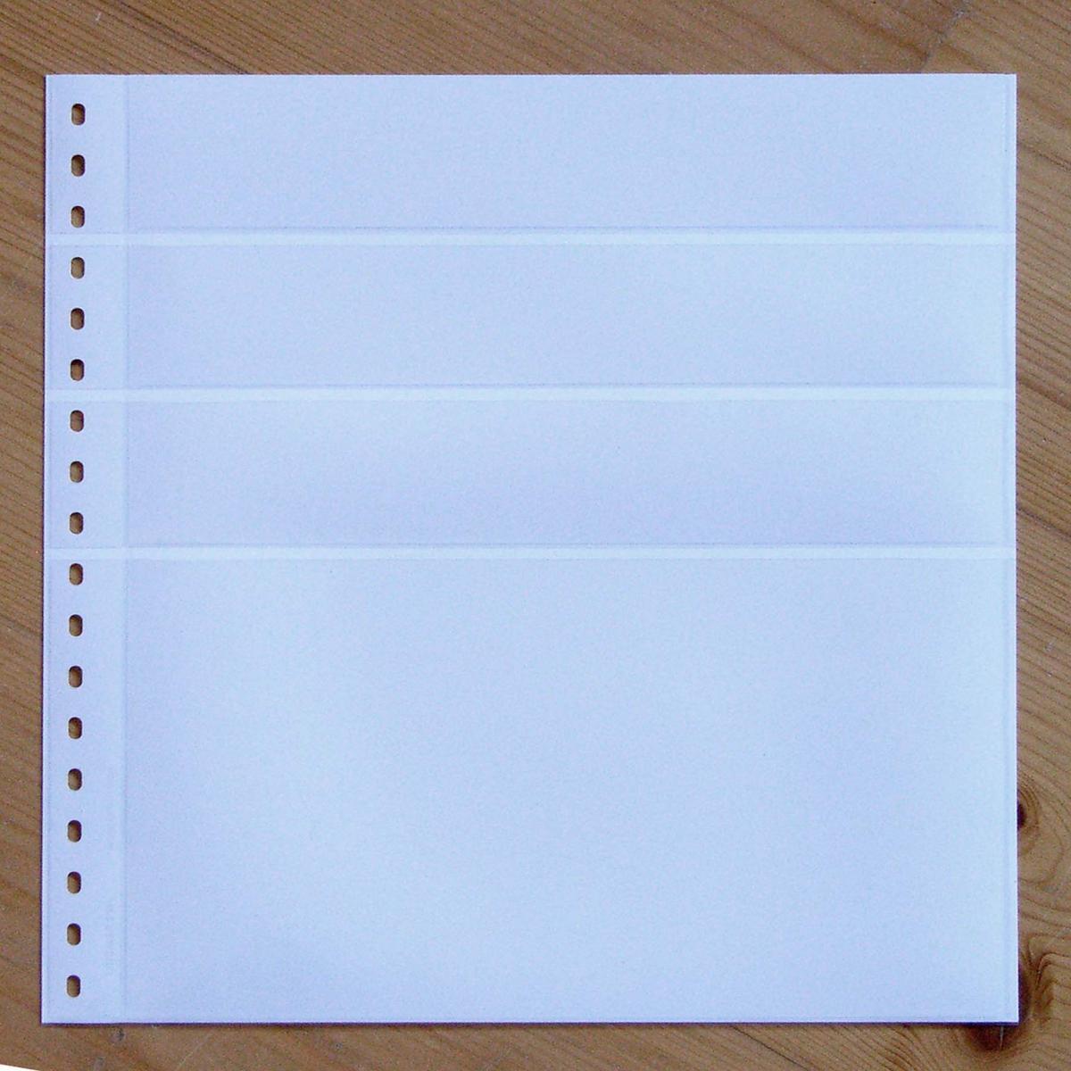 LINDNER Omnia Einsteckblatt 0161 weiß 3x 43 und 1x 141 mm 0