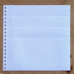 LINDNER Omnia Einsteckblatt 0161 weiß 3x 43 und 1x 141 mm