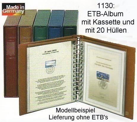 LINDNER ETB-Album mit Kassette und 20 Hüllen, weinrot 0