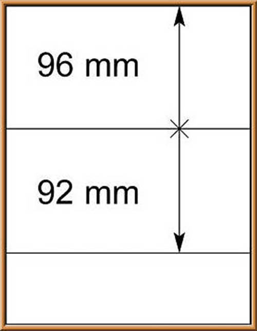 LINDNER-T-Blanko - Einzelblatt 802 201 0