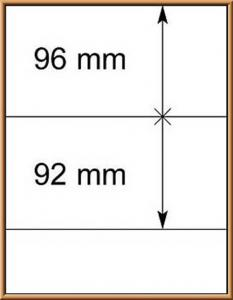 LINDNER-T-Blanko - Einzelblatt 802 201