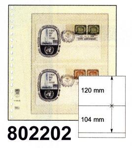 LINDNER-T-Blanko - Einzelblatt 802 202