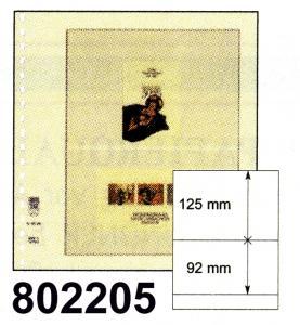 LINDNER-T-Blanko - Einzelblatt 802 205