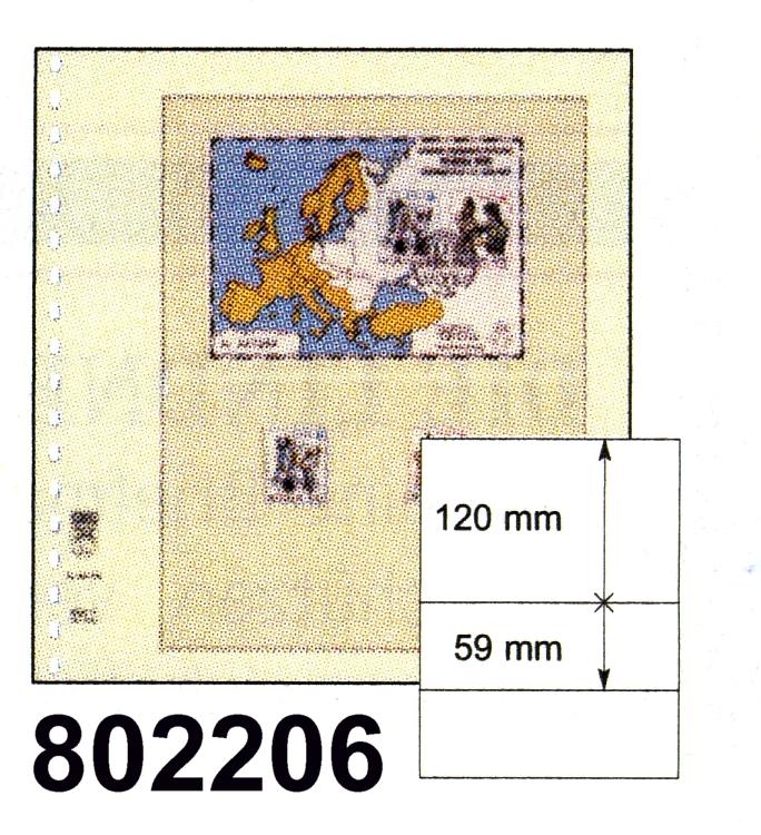 LINDNER-T-Blanko - Einzelblatt 802 206 0