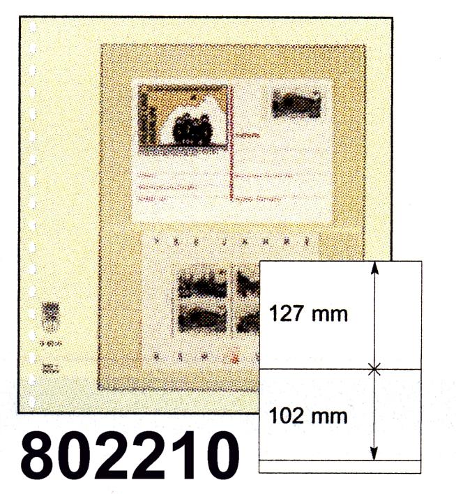 LINDNER-T-Blanko - Einzelblatt 802 210 0