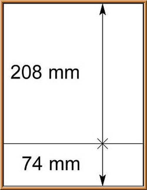 LINDNER-T-Blanko - Einzelblatt 802 213 1