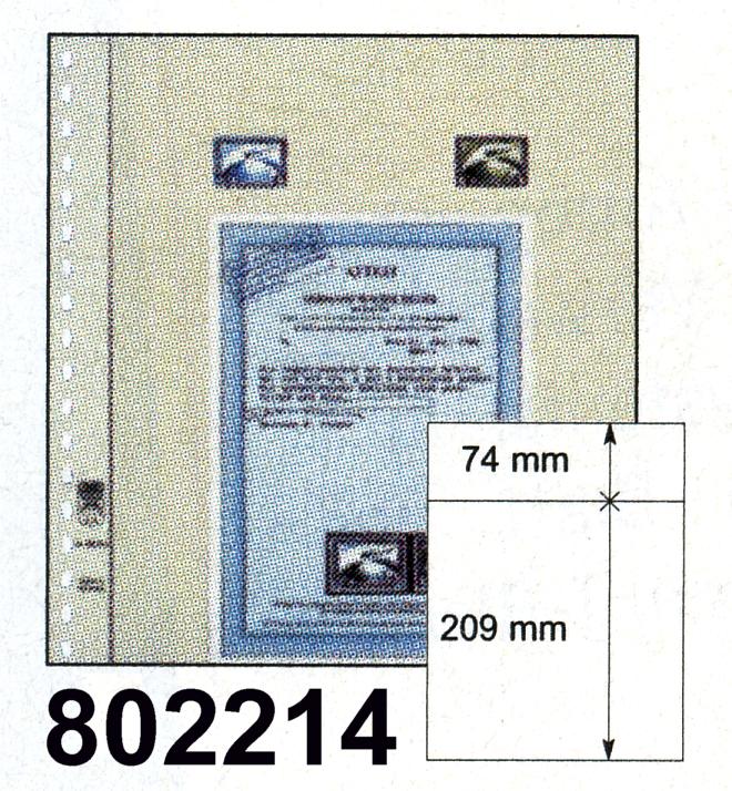 LINDNER-T-Blanko - Einzelblatt 802 214 0