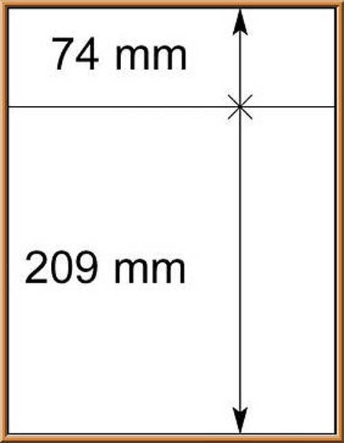 LINDNER-T-Blanko - Einzelblatt 802 214 1