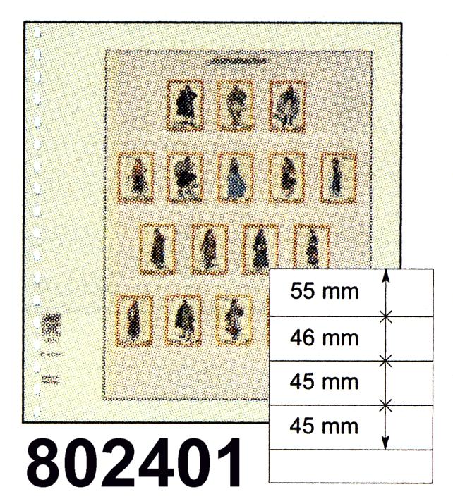 LINDNER-T-Blanko - Einzelblatt 802 401 0