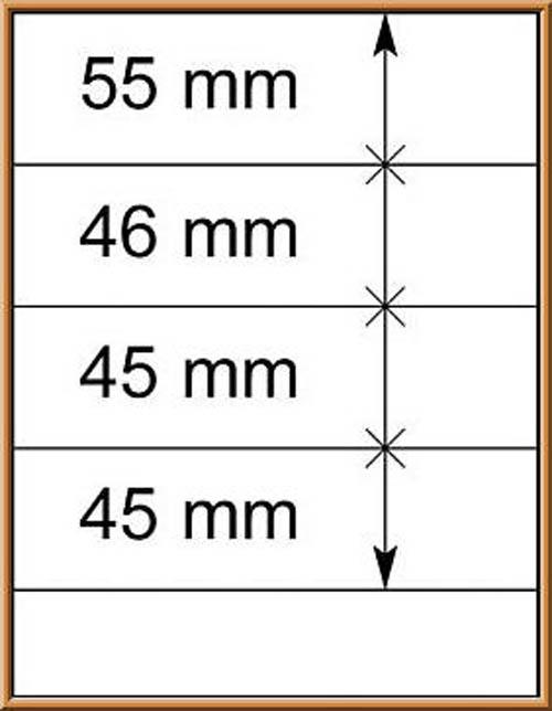 LINDNER-T-Blanko - Einzelblatt 802 401 1