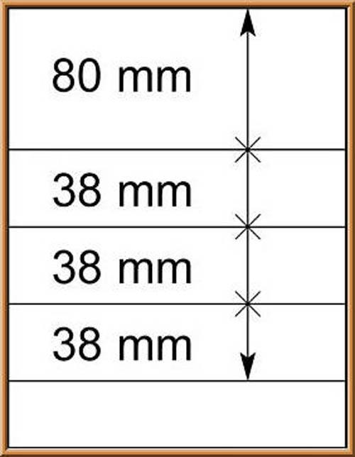 LINDNER-T-Blanko - Einzelblatt 802 405 1
